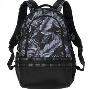 Handbags - Pink Victoria's Secret Palm Tree Backpack